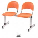 صندلی انتظار دو نفره کد : 102+ صنایع بنیزان